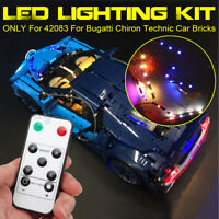 ONLY LED Light Lighting Kit For LEGO 42083 For Bugatti Chiron Technic Car  k