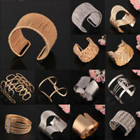 Womens Mens Exaggerated Statement Bracelet Bangle Hollow Out New Jewelry Gift