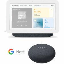 Pantalla de Smart Hub Nido de Google, carbón (2nd Gen.) con Mini Altavoz Paquete
