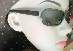 Giorgio Armani Fashion Dark Olive & Gray Sunglasses GA Etched Len Made in Italy