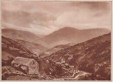 G1644 France - vallée d'Evol et la chapelle Saint-Etienne - 1934 vintage print