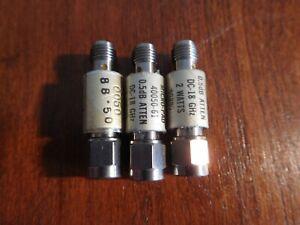Lot of 3 Narda 0.5 dB Attenuators, 18GHz, 40050-61