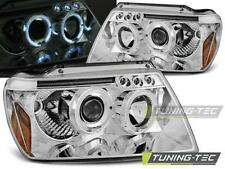 COPPIA FARI ANTERIORI CHRYSLER JEEP GRAND CHEROKEE 99-05.05 ANGEL EYES CHROME LO