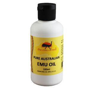 100% PURO OIL di Emu AUSTRALIANO Perfetto Per La Pelle CAPELLI MUSCOLI 100 ml