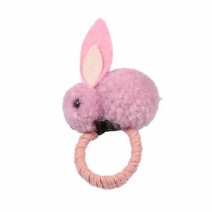 Cute Rabbit Ball Hair Ring Clip female Tie Tope Elastic Hair Bands Hairpins head