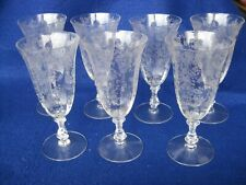 """Beautiful Set of 7 Rosepoint #3121 Water Tumblers 7 1/8"""" Tall"""