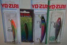 Lot of 4 Yo-Zuri Lures, Floating, Crystal Minnow, Pins Minnow, Walk'N Dog Mag.