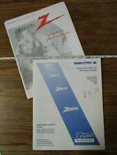 Zenith Sentry Direct View Color Tv Manual & Directory Used/good