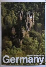 Vintage Travel Poster Pin-Up Federal Republic Germany German Castle 70's Pin-up