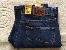 """Hommes Lee Brooklyn Coupe Standard coupe droite braguette zippée jeans bleu W 34"""" L 30"""" BNWT"""