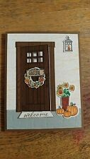 Handmade Thanksgiving card, Holiday Front Door, Stampin Up! At Home With You