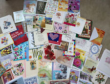 Large Lot of 50 Assorted Greeting Cards- Hallmark, American Etc W/envelopes (b)