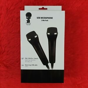 Titan Tech UNIVERSAL USB MICROPHONES 2 Mics New Xbox One/360/PS4/PS3/Wii/Switch