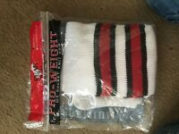 1 Pair hockey socks Pear Sox Pro Weight RED BLACK WHITE Adult 30''-32'' NIP