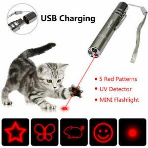 Multipattern USB Charging Red Laser Pointer Pen -1mw Strap Pet LED Light Cat Toy
