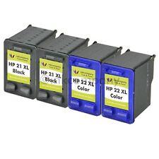 4 Druckerpatronen HP 21 22XL für Deskjet D2445 D1341 D1320 D1311 D1560 D1530 F34