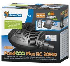 SF Teichpumpe Pond ECO Plus 20000 Fernbedienung 23-130 Watt Filterpumpe Bachlauf