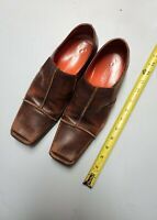 Mark Nason Brown Leather Loafers Dress Shoes Sz 8.5 Made In Italy,,,pre owned