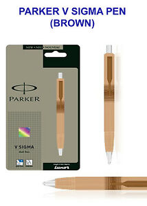 5x PARKER V SIGMA PEN (BROWN) Free Shipping