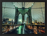 BROOKLYN BRIDGE NEW YORK CITY NEW A3 FRAMED PHOTOGRAPHIC PRINT POSTER