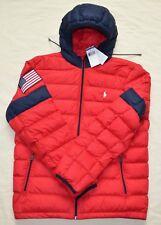 Neuf L LARGE Polo Ralph Lauren Hommes Compressible Doudoune Veste Manteau  Rouge 14cb2dfad30