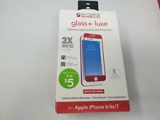 ZAGG Invisible Shield Glass+ Luxe - Red for Apple Iphone 6 6s 7 8 - Openbox
