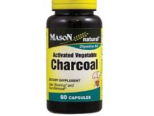 60 CAPSULES ACTIVATED VEGETABLE CHARCOAL DIGESTIVE HEALT CARBON VEGETAL ACTIVADO