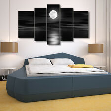 5Pcs Full Moon Style Unframed Canvas Print Painting Picture Wall Art Home Decor
