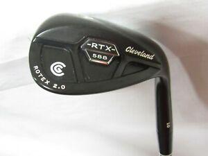 Used RH Cleveland 588 Rotex 2.0 Black Pearl Single 64* Wedge - Wedge Flex Steel