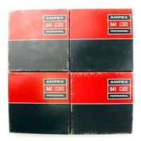 "Lot of 4 Used Vintage AMPEX 641 Professional  7"" - 1800' Recording Reel Tapes"