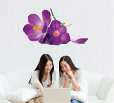 Purple Flower Room Decor Removable Wall Stickers Decal Decoration Wandtattoos