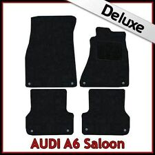 Audi A6 C7 2011 onwards Tailored LUXURY 1300g Carpet Car Floor Mats BLACK