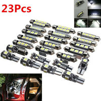 23pcs Car Interior White LED Light Bulb Dome Trunk Door Replacement Lamp 6000K