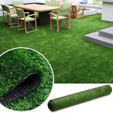Green Artificial Fake Synthetic Grass Rug Garden Landscaping Lawn Carpet Mat US