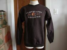 Vintage National Football League Cleveland Browns Brown SweatShirt Size Medium