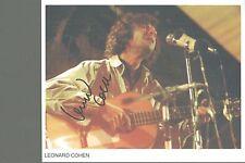 Leonard Cohen signed autograph UACC AFTAL online COA