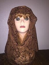 Long Brown Scarf Hijab Wrap Sheer very pretty and fashionable Last 1