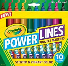 Crayola PowerLines Washable Markers with Scents - 10 pack