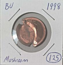 New Listing1998-P Lincoln 1c Mushroom Broadstruck w/ Indent Mint Error Unc