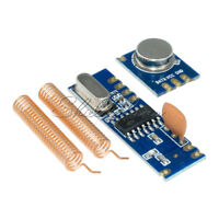 433MHz Wireless Module Kit ASK RF Transmitter&Receiver+2pcs Copper Antenna D