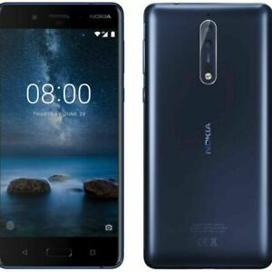 Nokia 8 - 64GB - Tempered Blue (Unlocked) Smartphone - UK Spec