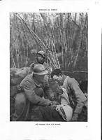 WWI Bataille de la Marne Poilus Soldats Blessés Infirmier Soins B ILLUSTRATION