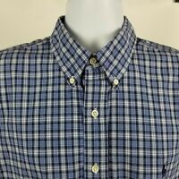 Ralph Lauren Blake Mens Blue Check Summer Button Shirt Sz XL