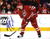 Justin Faulk authentic signed NHL hockey 8x10 photo W/Cert Autographed A0003