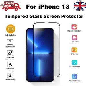 Full Coverage Shatter Proof REAL Tempered Glass Screen Protector for iPhone 13