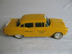 PMC True Miniatures Model Car Promo Yellow Taxi 1955 Chevrolet 4-Door Sedan