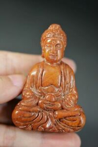 Rare Chinese Old Jade Carved *Buddha* Pendant/Statue D14