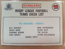 1975 Unmarked Penrith Panthers Checklist