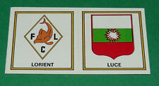 N°381 A-B LORIENT LUCE BADGES ECUSSONS D2 PANINI FOOTBALL 77 1976-1977