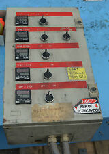Die pre heat oven control cabinet with 5 temperature controllers